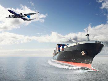 Cruise ship and plane